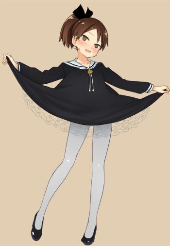 kantai collection shikinami white tights anime pantyhose stockings nylon schoolgirl