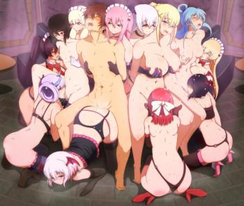 kono subarashii sekai ni shukufuku wo succubus group sex anime orgy stockings lesbian yuri