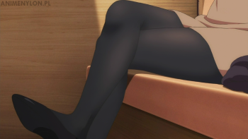 saenai heroine no sodatekata kasumigaoka utaha stockings crossed legs anime black tights nylon