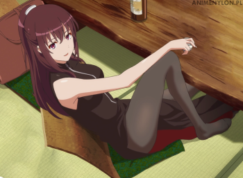 saenai heroine no sodatekata kosaka akane pantyhose anime stockings tights nylon legs feet hosiery thick thighs girl